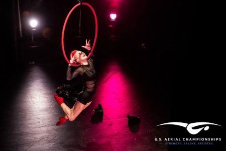 Women's Lyra Champion in the 2015 U.S. Aerial Championships