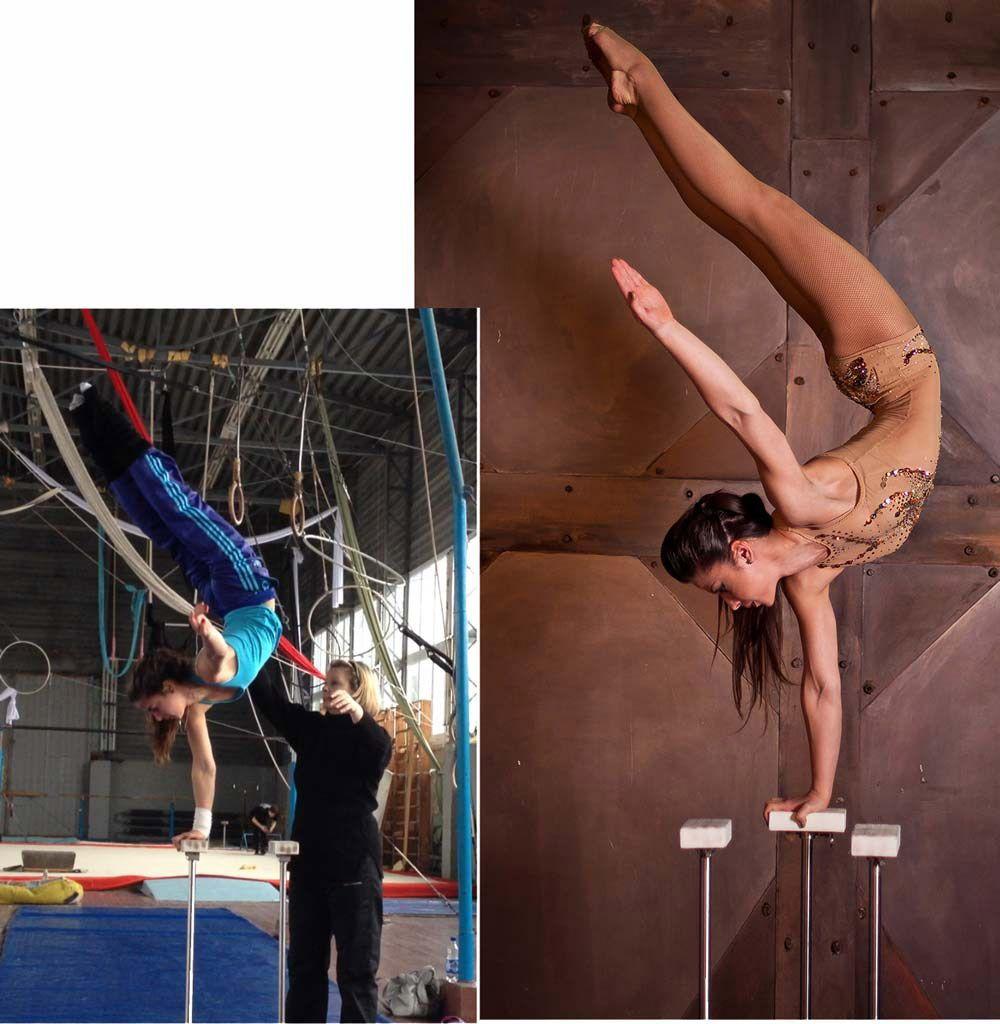 Rimma Griadunowva and her trainer